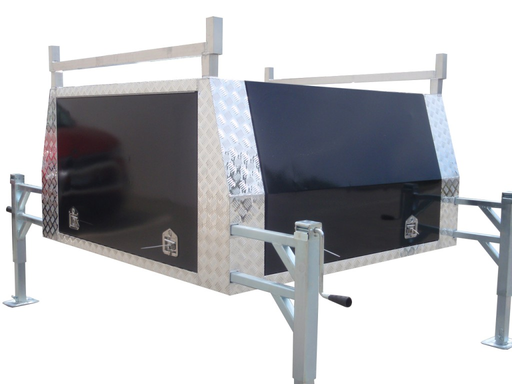Dual Cab Sized Aluminium Jack Off Ute Canopy With Smooth Aluminium Doors Powder Coated Black  sc 1 st  Galvanised Trailer Company : lift off ute canopy - memphite.com