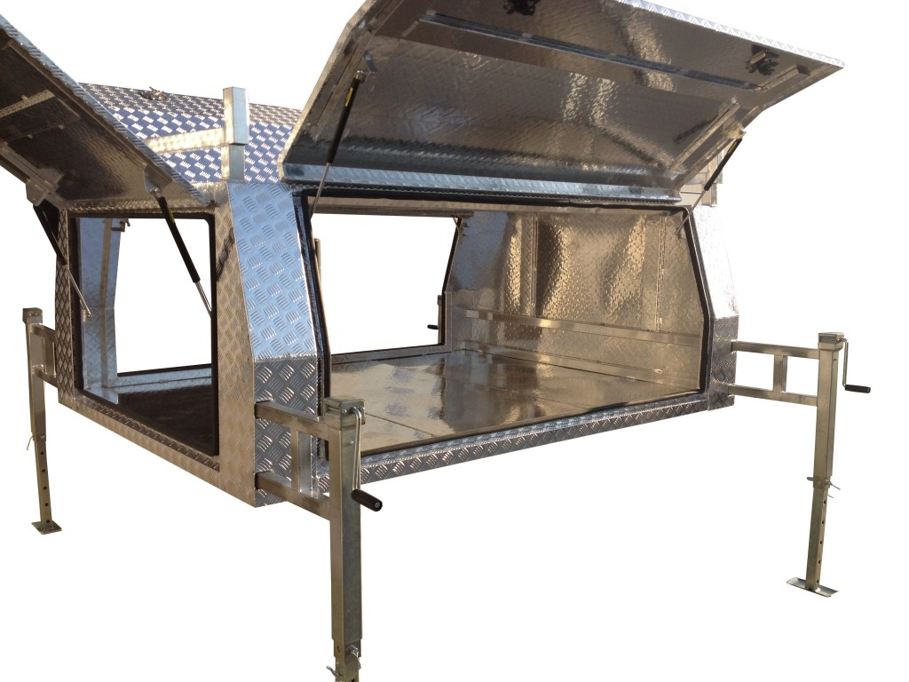 Single Cab u0026 Extra/Space Cab Sized Aluminium Jack Off Ute Canopy With Standard Checker Plate Design  sc 1 st  Galvanised Trailer Company & Best Priced Jack Off Aluminium Ute Canopy in Australia