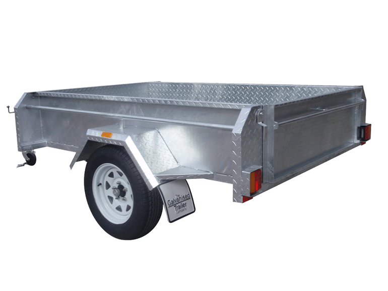 Useful box 7x5 single axle trailers with heavy duty chassis for 4 box auto in tandem